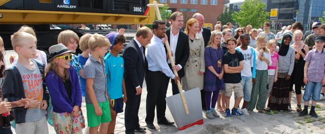 Read about the cutting of the first sod
