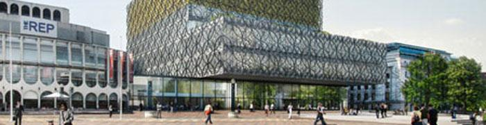 Sketch of new library in Birmingham